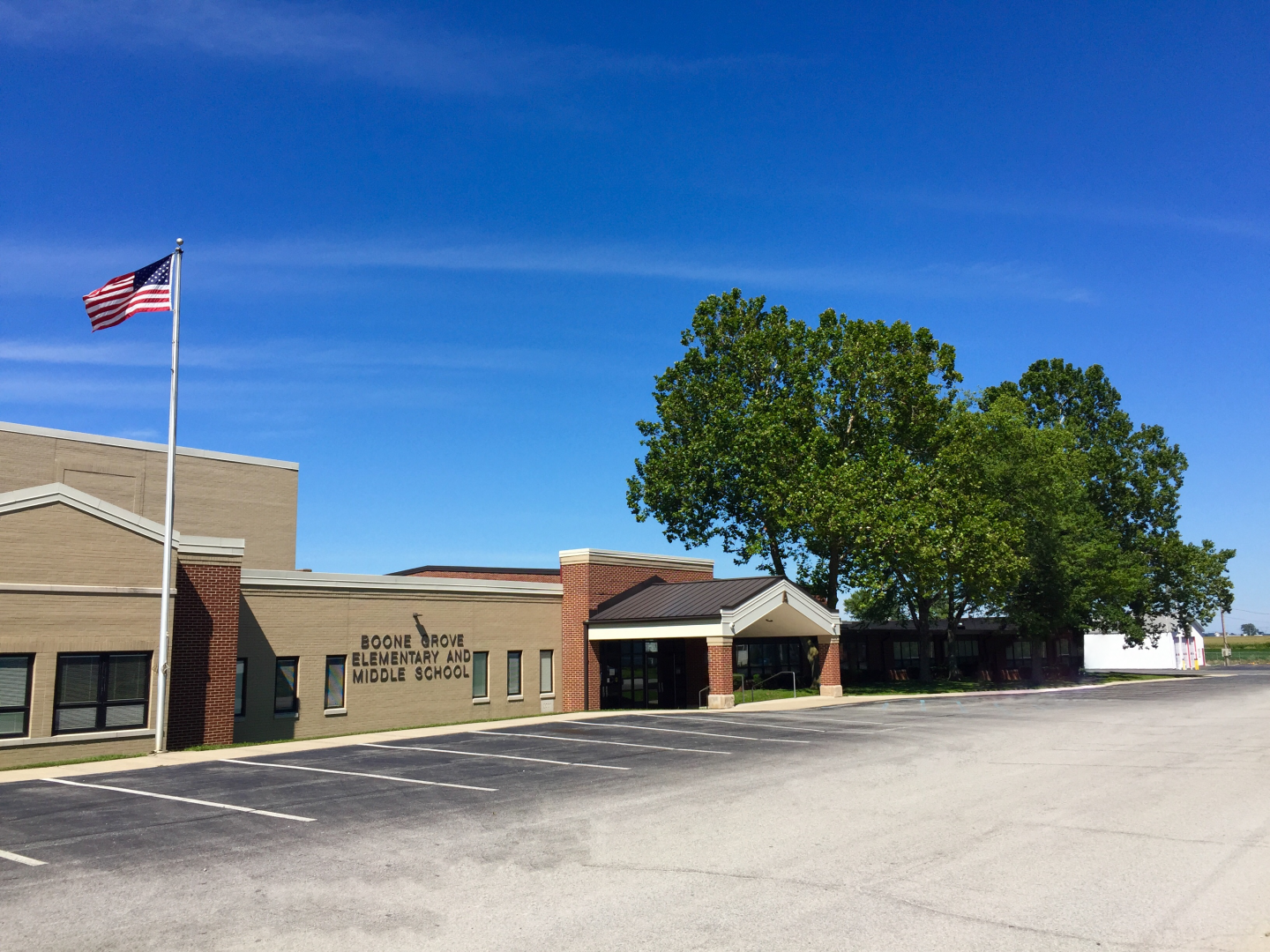 The Boone Grove Elementary and Middle School Building